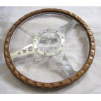 Image for STEERING WHEEL WOOD RIM 13 INCH