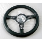 Image for STEERING WHEEL 14 INCH FLAT BLACK LEATHER