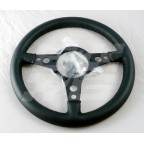 Image for STEERING WHEEL 15 INCH FLAT BLACK LEATHER