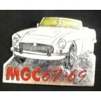 Image for PIN BADGE MGC WHITE