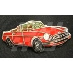 Image for PIN BADGE MGB R/B RED