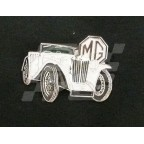Image for PIN BADGE MG TC WHITE