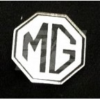 Image for PIN BADGE MG OCTAGON BLK/WHITE