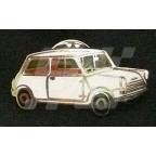 Image for PIN BADGE MINI SALOON WHITE