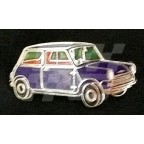Image for PIN BADGE MINI SALOON BLUE