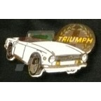Image for PIN BADGE TR6 WHITE