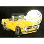 Image for PIN BADGE TR6 YELLOW