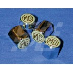Image for MG valve cap Chrome  Brown-Cream badge
