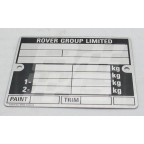 Image for Chassis  plate MG/Rover