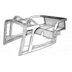 Image for LATE TA & TB ASSEMBLED ASH FRAME SKELETON