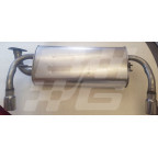 Image for Exhaust rear assembly LATE MGF oval tail pipe