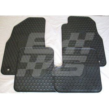 Set Of 4 Rubber Mats Mg3 Brown And Gammons