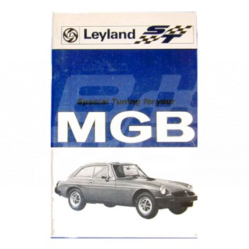 Image for TUNING H/BOOK R/B MGB 1800cc