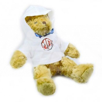 Image for Medium MG Teddy Bear with hoodie WHITE