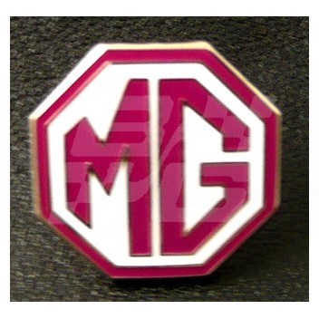 Image for PIN BADGE MG OCTAGON RED/WHITE