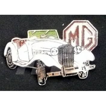 Image for PIN BADGE MG TD WHITE