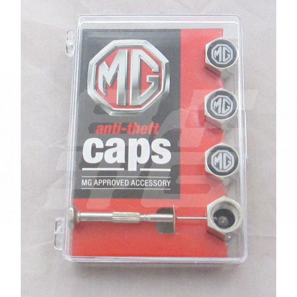 Image for MG Branded Valve Caps - Anti Theft