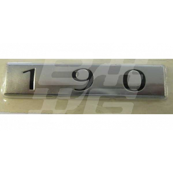 Image for 190 REAR BADGE SILVER