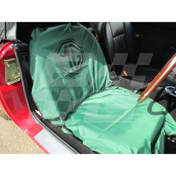 Mg Logo Seat Cover Brown And Gammons