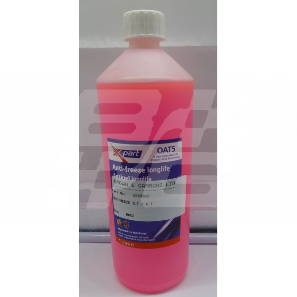 Image for ANTIFREEZE 1LT O.A.T Pink