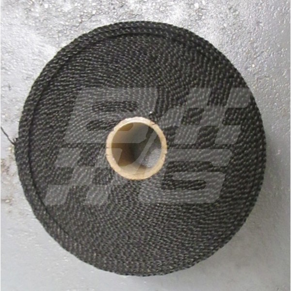 Image for Exhaust wrap 2 inch Titanium - Black. Competition Product