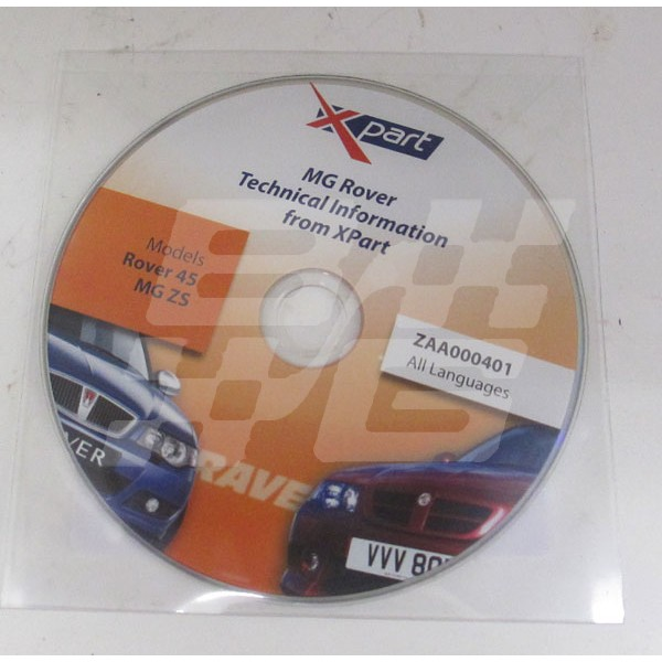 Image for MG Rover Technical info CD R45 ZS Xpart
